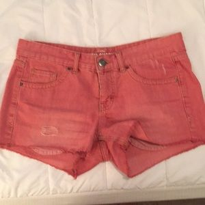 Missimo red cut off shorts